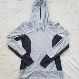 Women's MPG Light Gray and Charcoal Pullover Hoodi